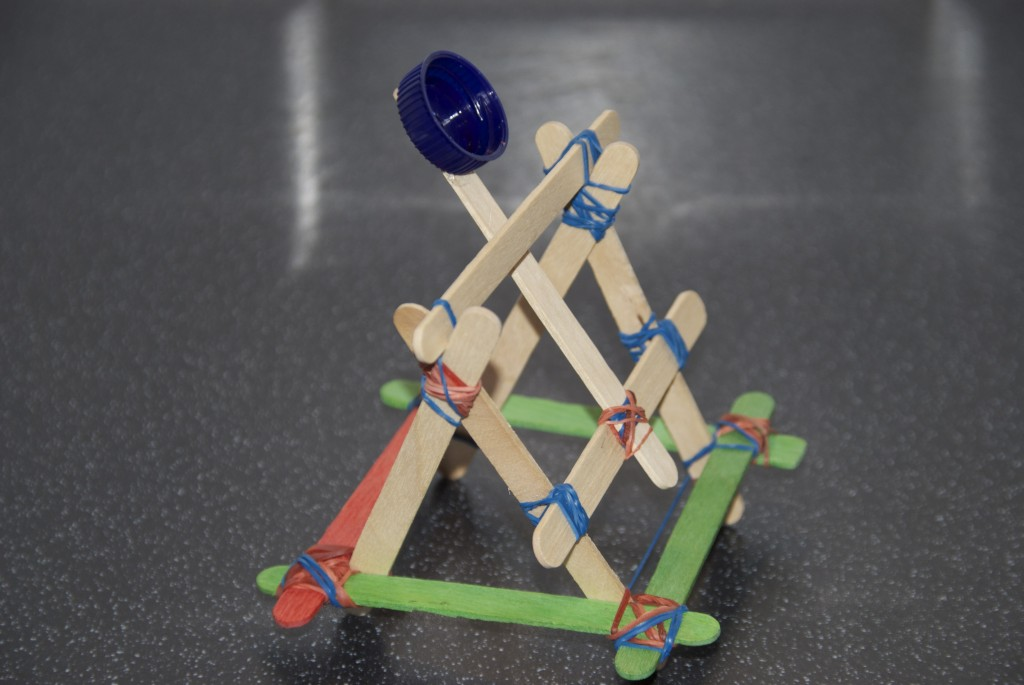 Kids will build their own catapult and see how far it will launch ...