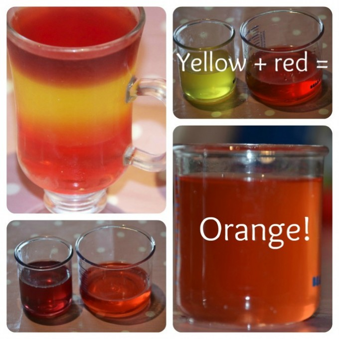 Jelly colour mixing