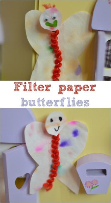 filter paper butterflies