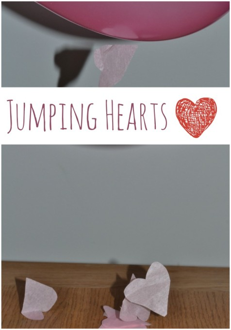 Jumping hearts, static electricity investigation