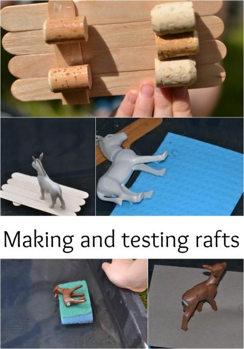 making and testing rafts