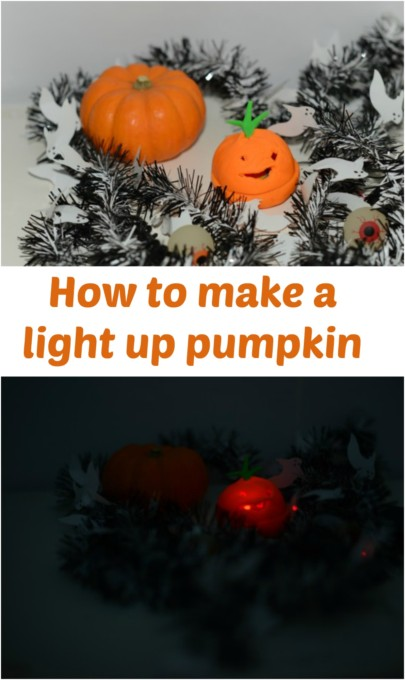 How to make a light up pumpkin