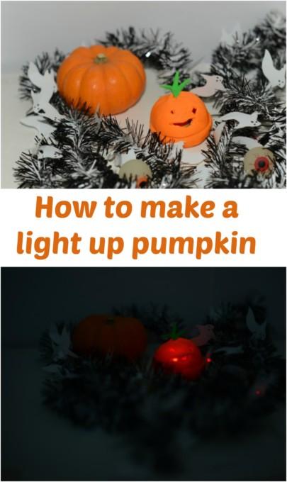 How to make a light up pumpkin