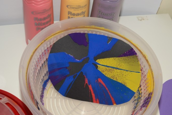Firework Spin Art and Filter Paper Pictures