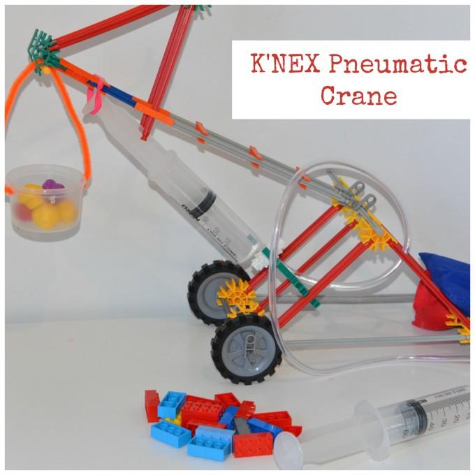 Knex pneumatic crane