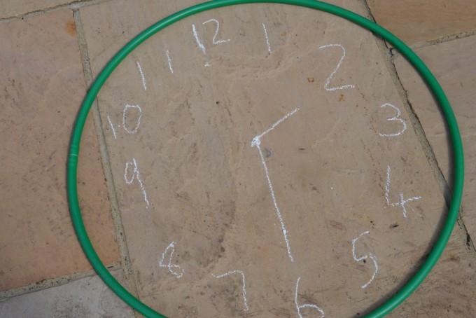 hula hoop clock