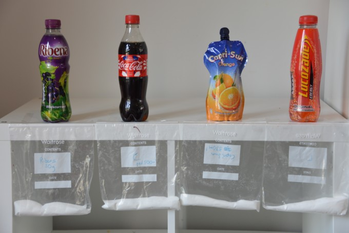 How much sugar is in our drinks