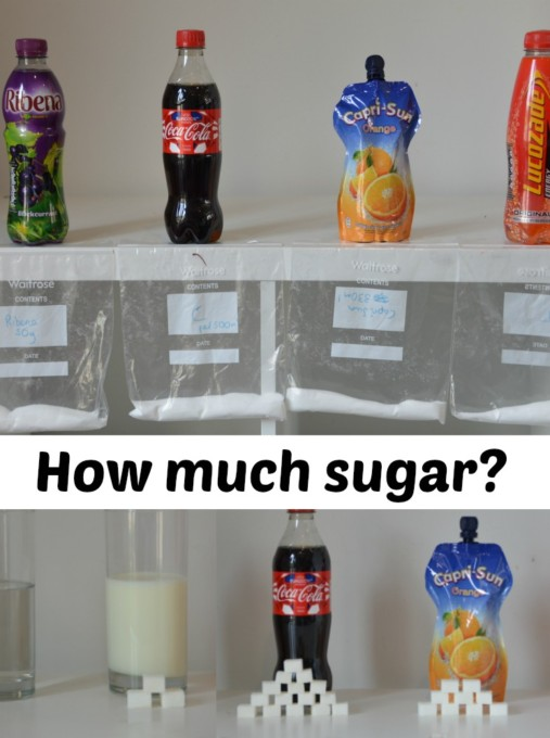 How much sugar is in children's drinks