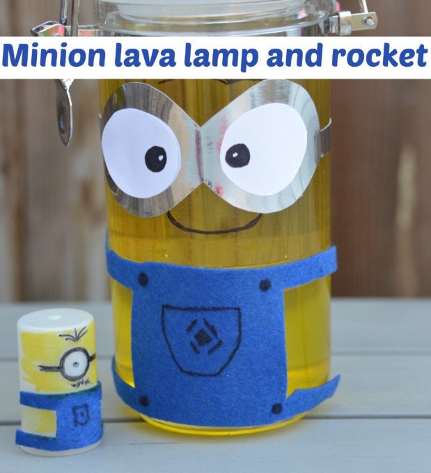Minion lava lamp and film canister rocket