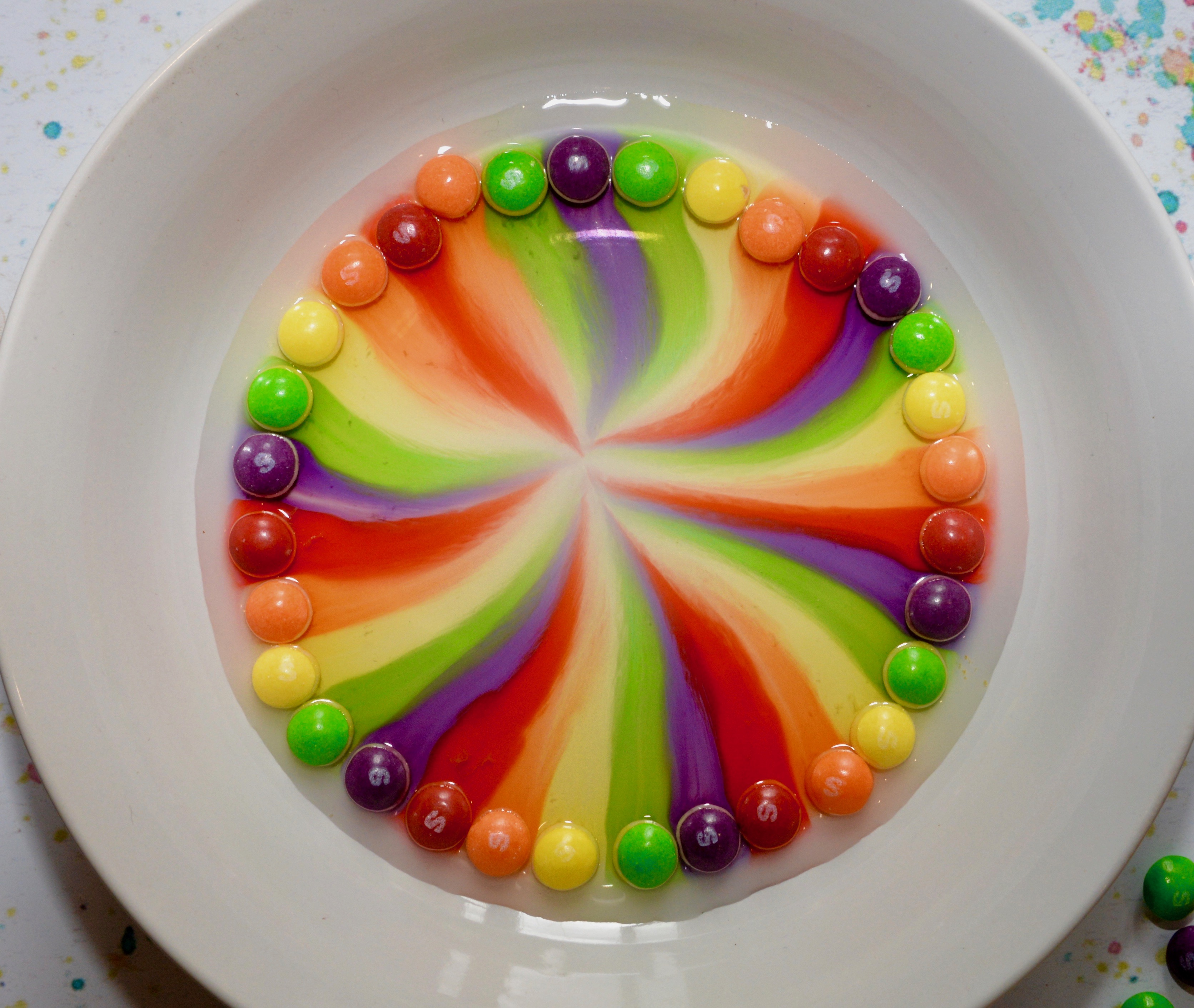 Skittles Experiment - skittles in water