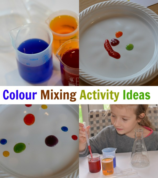 Colour mixing activity ideas