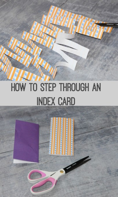 Step through an index card