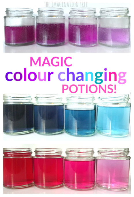 Magic colour changing Potions