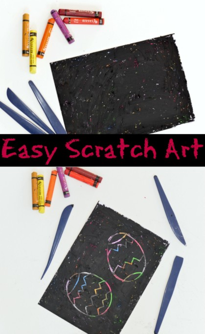 Easy Scratch Art Eggs