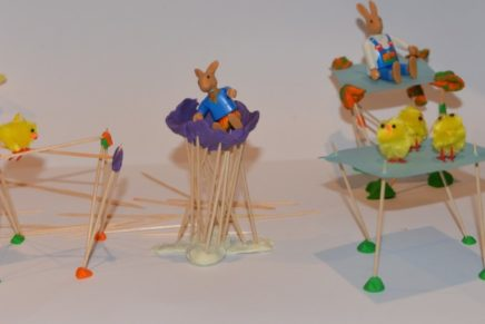Easter Toothpick Structures