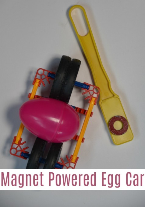 Magnet powered egg car