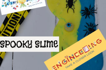 Spooky Slime made with no borax