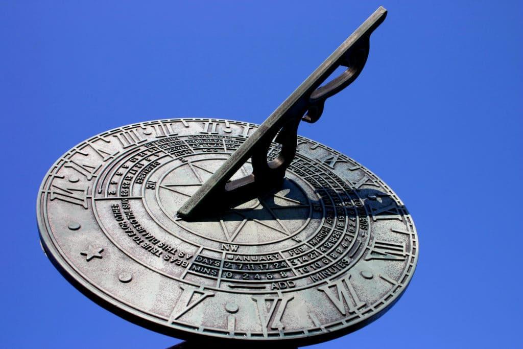 Image on a metal sundial