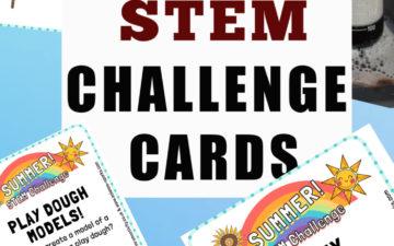 STEM Challenge cards