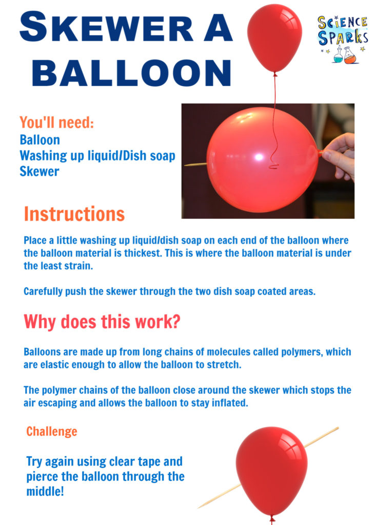 Static electricity experiment instructions