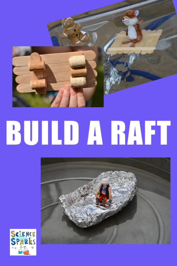 Build a raft for the Billy Goats with this easy science/STEM Challenge for kids - fun fairy Tale Science Experiment #scienceforkids #billygoats #fairytalestem