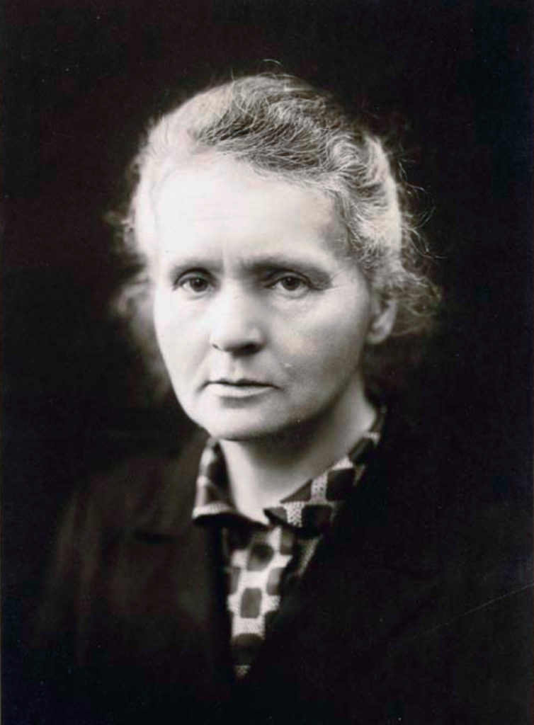 Marie Curie - source wikipedia