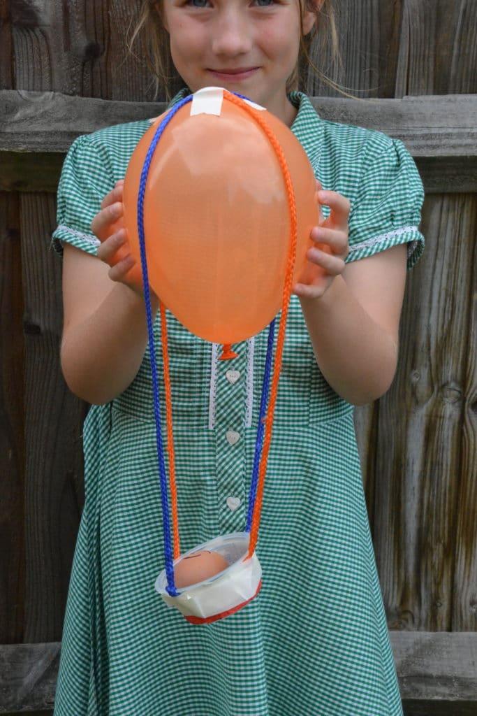 Balloon parachute!