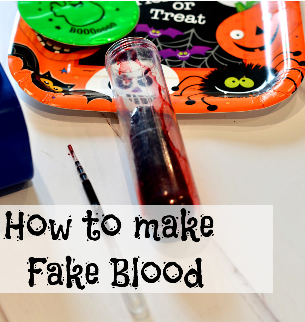 Image of fake blood in a test tube