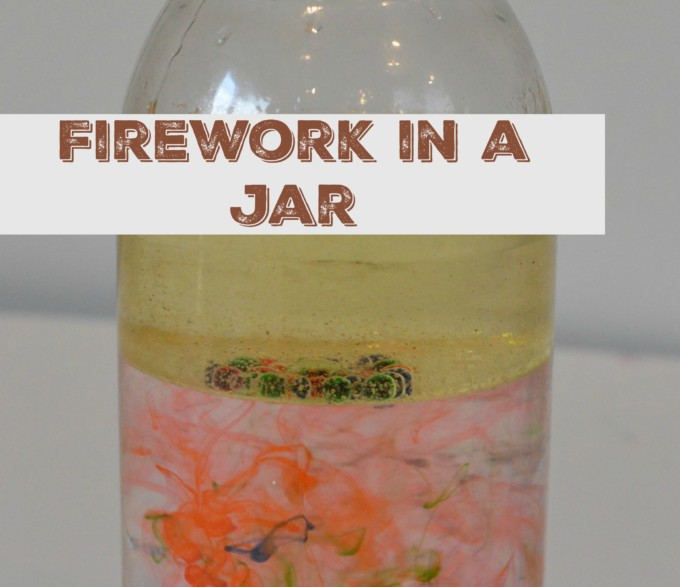 Firework in a jar