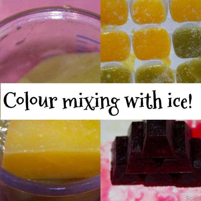 Colour mixing with ice