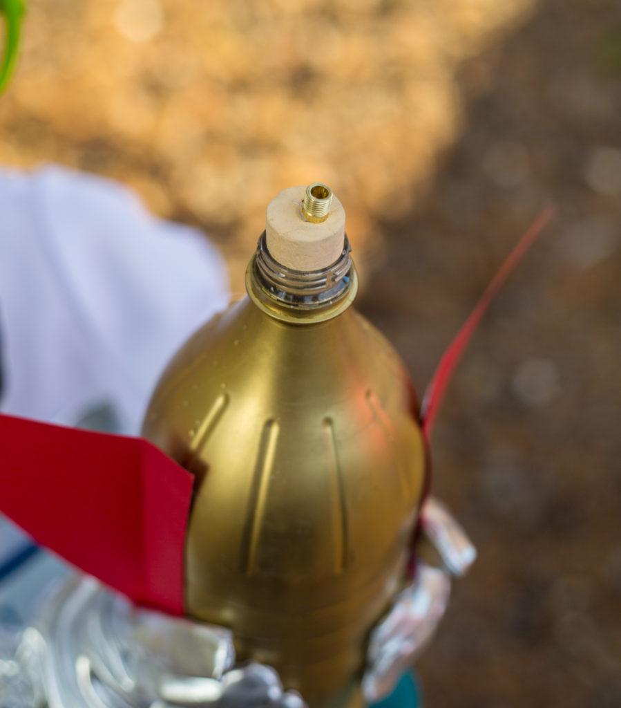 Needle adaptor for a water bottle rocket