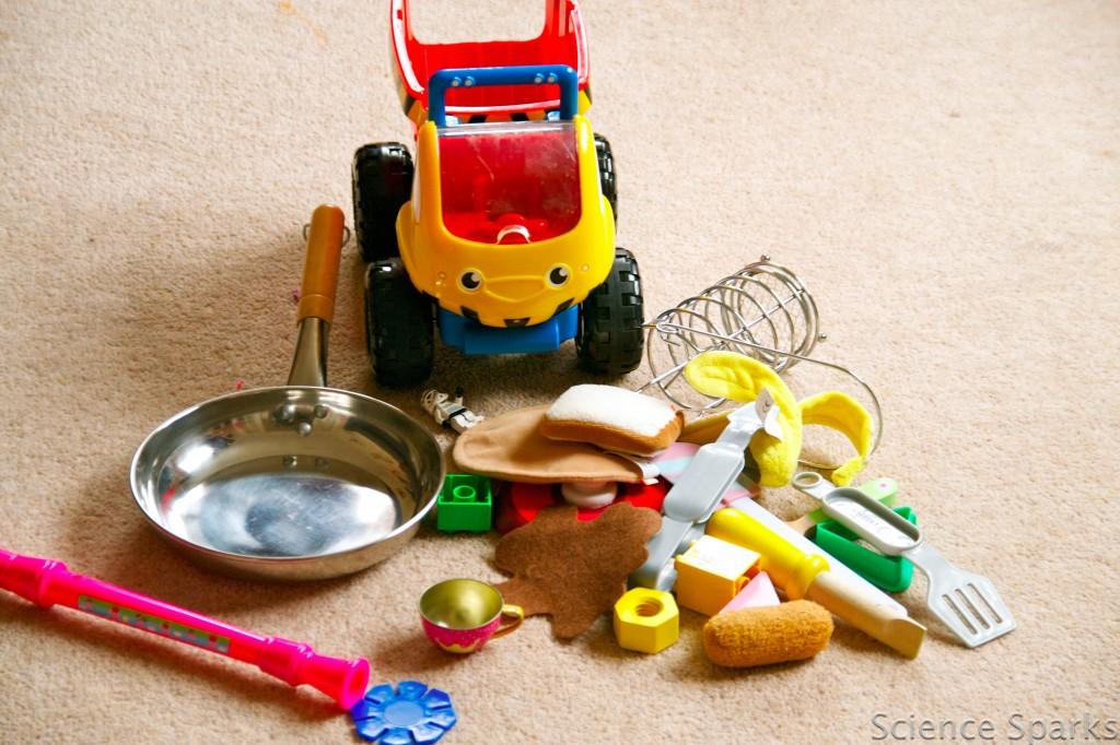 Pile of toys for learning about materials - toy sorting
