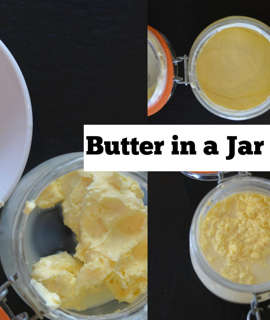How to Make Butter in a jar. #Scienceforkids #kitchenscience #butterinajar
