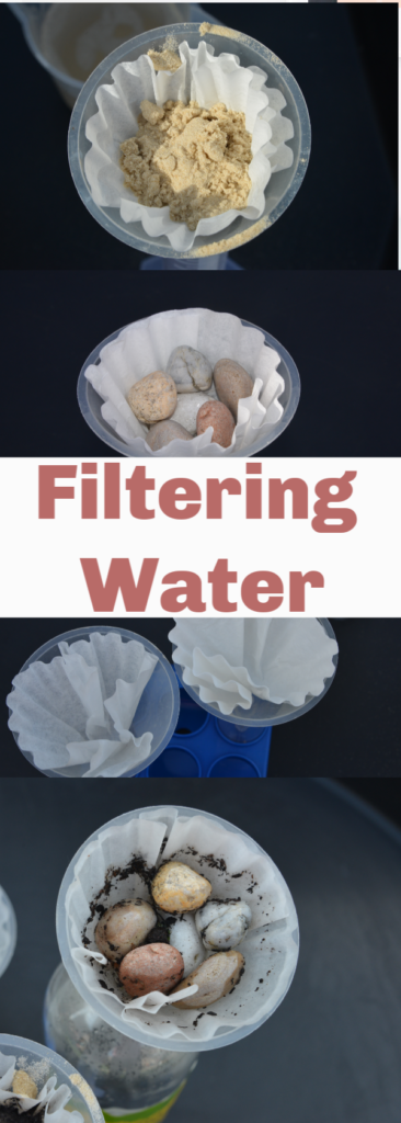 Easy water filter science project - fun water experiment for kids #scienceforkids #scienceexperiments #waterexperiments