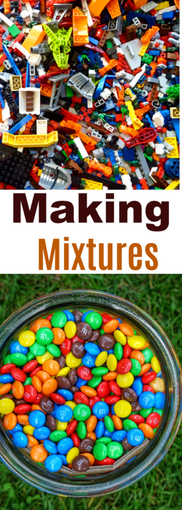 Making mixtures. Make simple mixtures and then more complex mixtures that can be separated by filtration or evaporation #mixtures #chemistryforkids