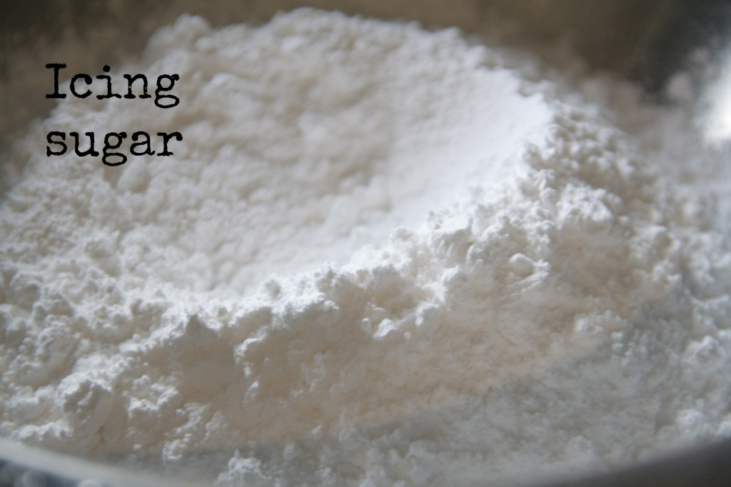 icing sugar on a plate
