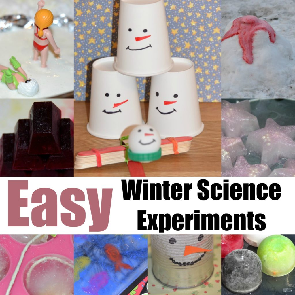 Easy winter science experiments for kids #winterscience #scienceforkids #scienceexperimentsforwinter #iceexperiments