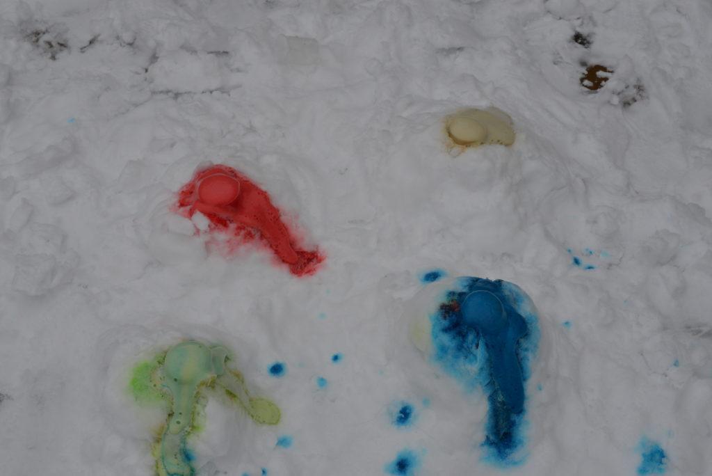 Colourful Snow Volcanoes