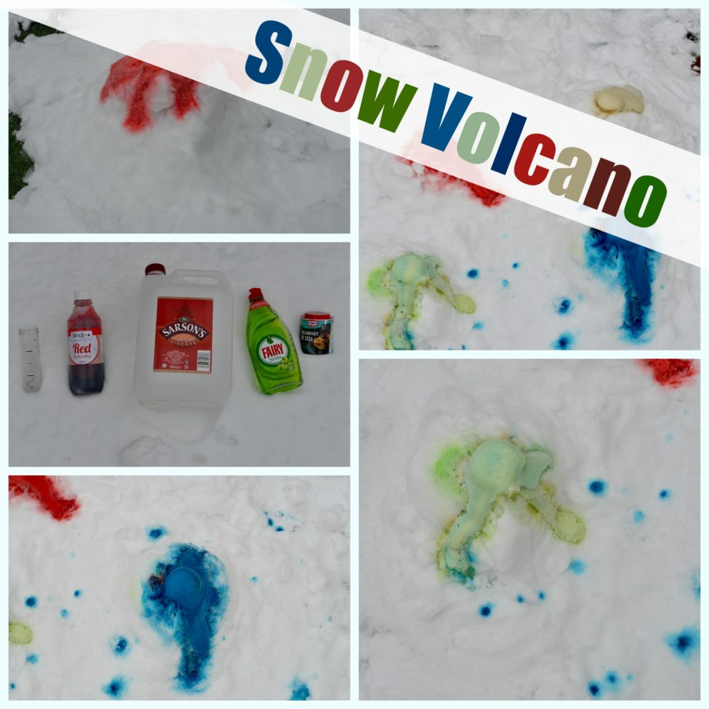 Snow Volcano - multicoloured snow volcano