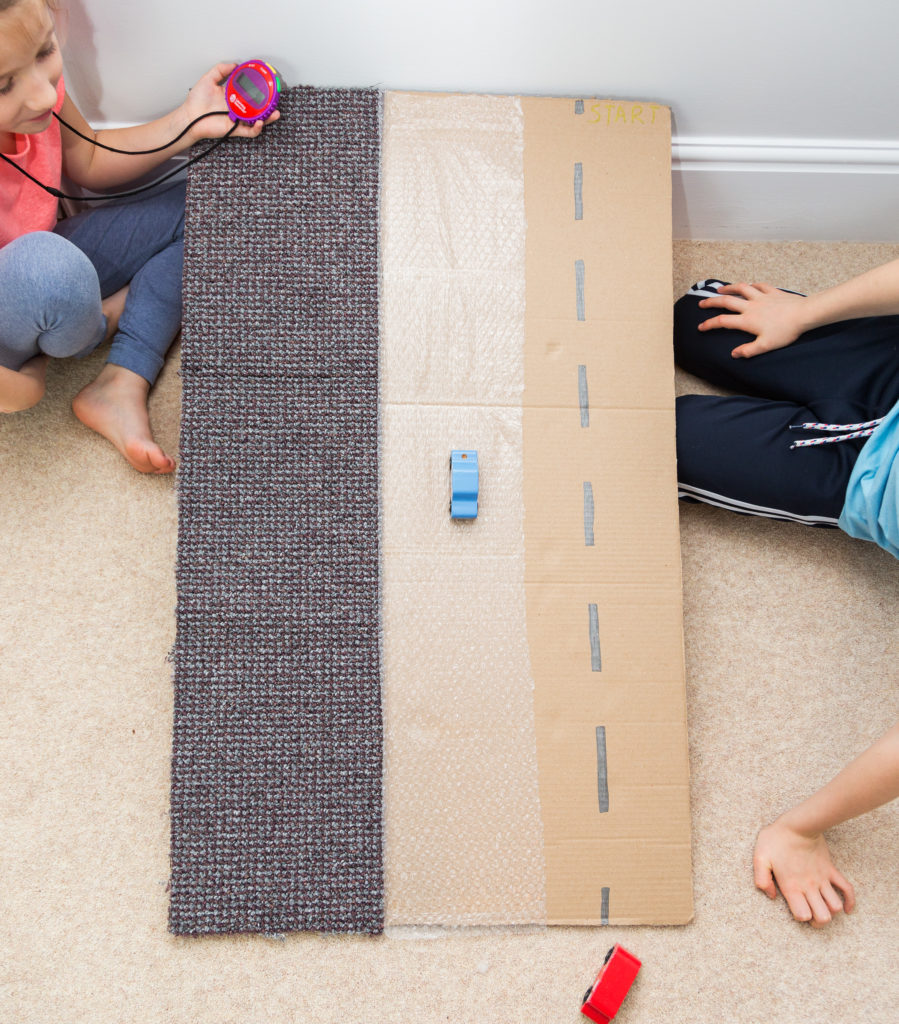 Homemade friction ramp
