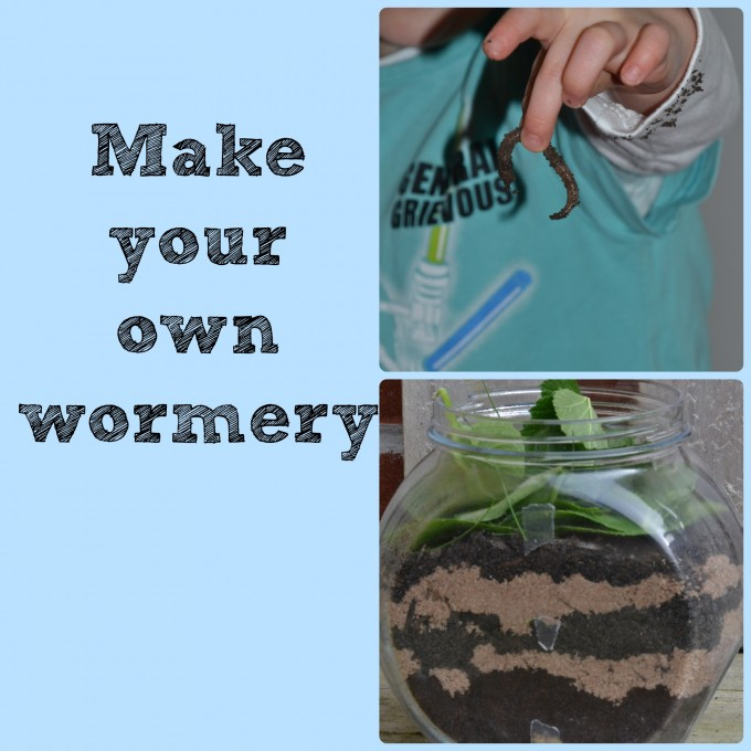 Homemade wormery - fun idea for some Road Dahl Science
