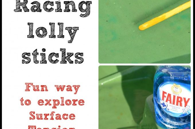 lolly stick race - surface tension experiment
