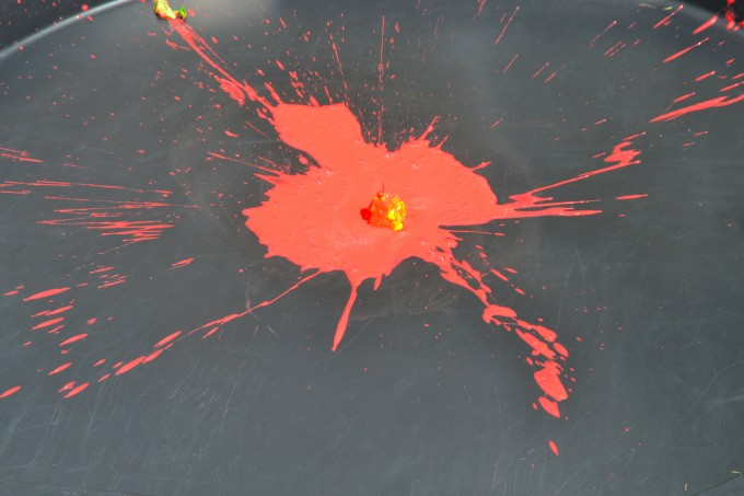 Splatter patterns - messy science for kids