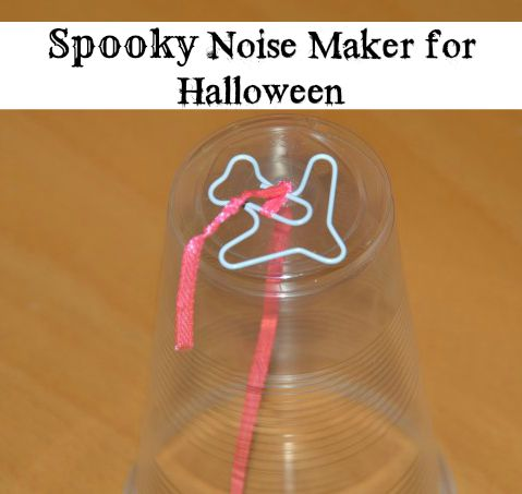Noise maker made with a plastic cup - Halloween Science