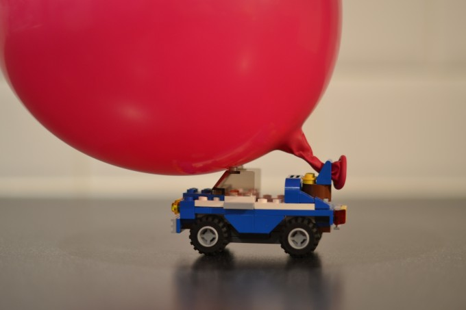 Balloon powered car - forces for kids