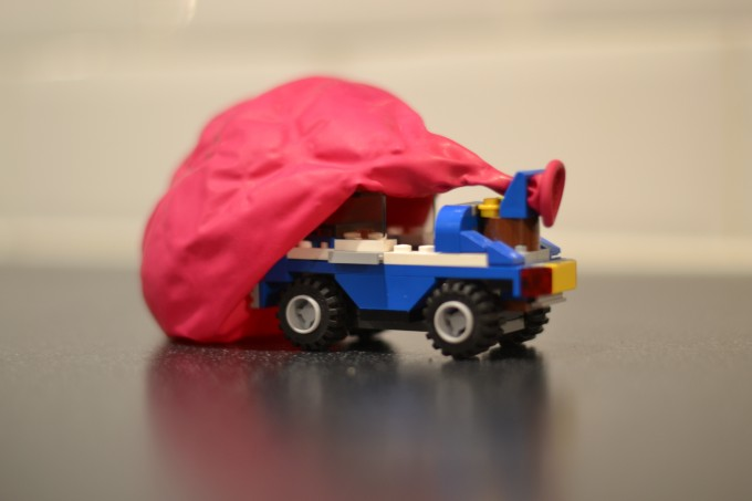 Balloon powered LEGO car