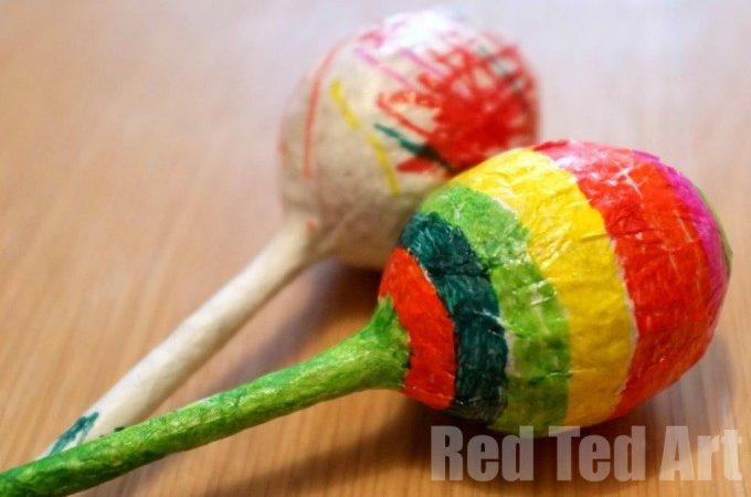 Maracas, craft for kids