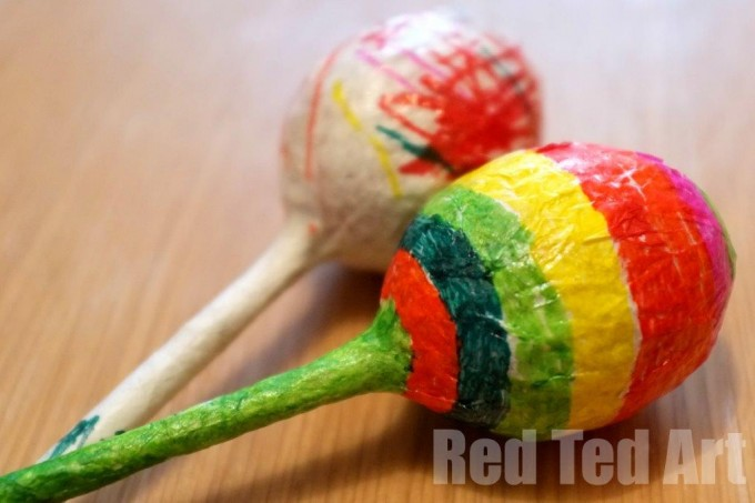 Maracas, craft for kids