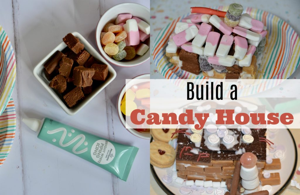 Sweets, fudge and icing for a how to build a candy house STEM Challenge
