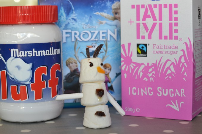 Build and Olaf science experiment for kids #winterscienve